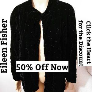 Eileen Fisher Silk Blend Jacket Sz 1X